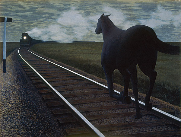 Alex Colville-Horse and Train, Florence